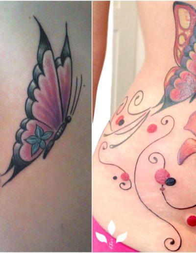 Lilie und Schmetterling Coverup