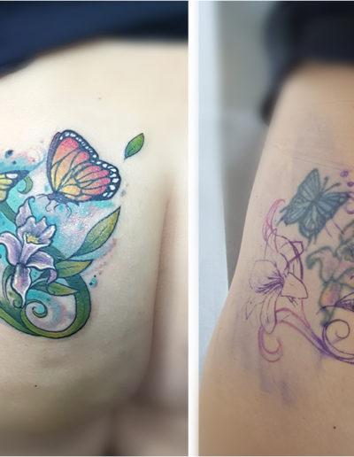 Schmetterlinge und Blumen Coverup